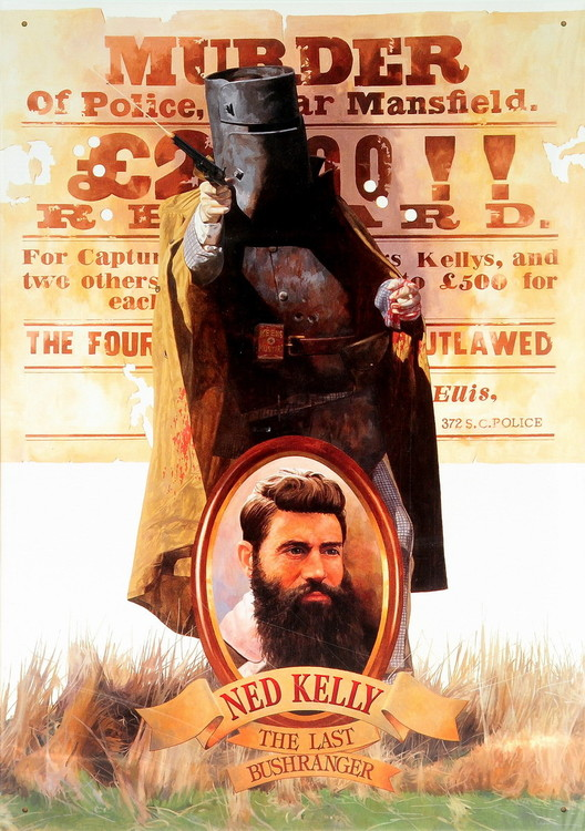 NED KELLY Kovinski znak