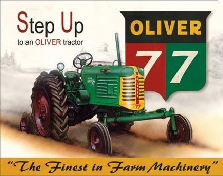 Kovinski znak OLIVER - 77 traktor