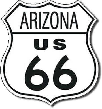 ROUTE 66 - arizona Kovinski znak