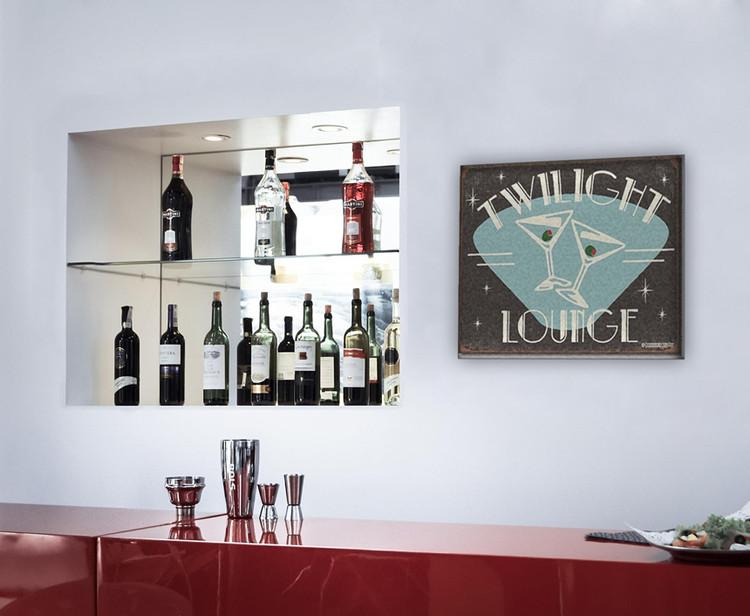SCHOENBERG - twilight lounge Kovinski znak
