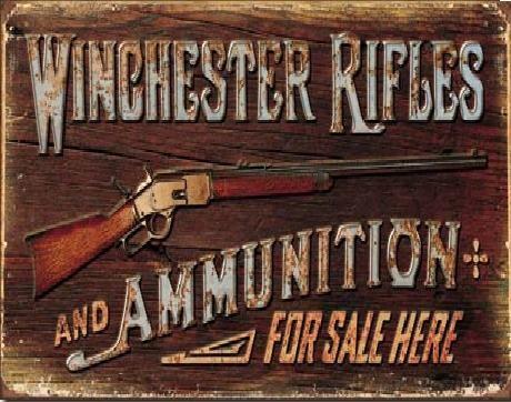 WINCHESTER - For Sale Here Kovinski znak