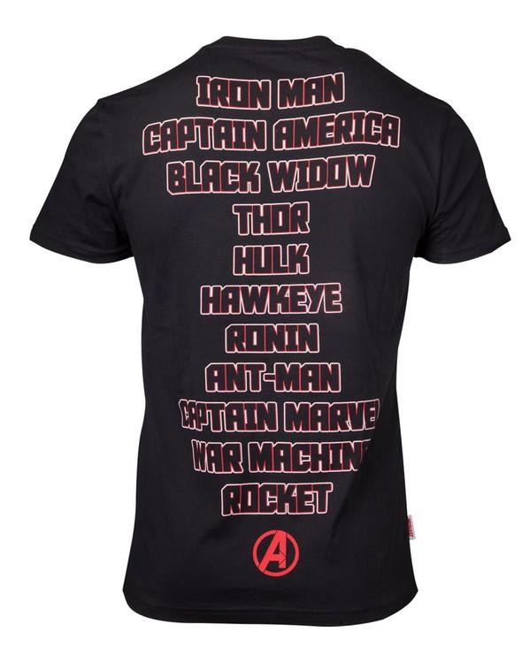 Avengers: Endgame - Character Names Kratka majica