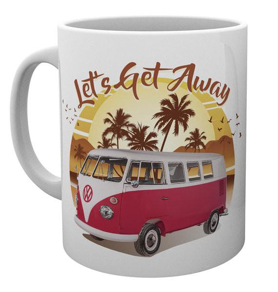 102172c4 VW Camper - Lets Get Away Sunset Kubek | Kup na Posters.pl