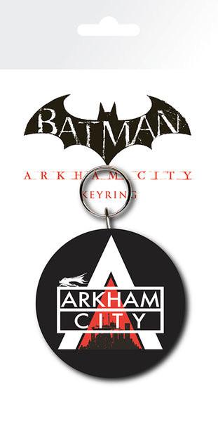 Batman Arkham City - Logo kulcsatartó