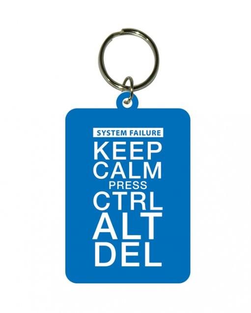 Keep Calm and Press Ctrl Alt Delete kulcsatartó