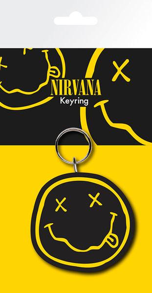 Nirvana - Smiley kulcsatartó