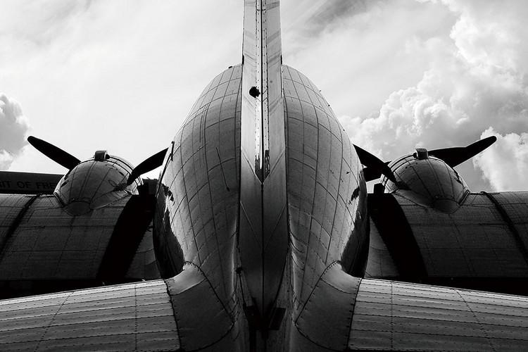 Kunst op glas Plane - Backside