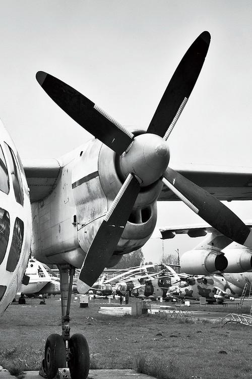 Kunst op glas Plane - Cockpit