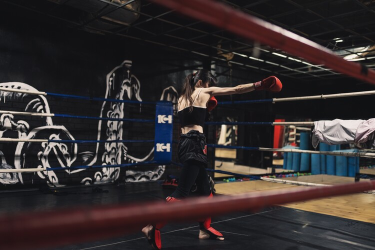 Kunstfotografier Practicing muay thai