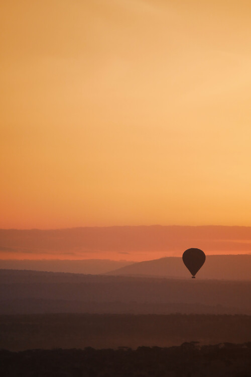Kunstfotografier Sunset balloon ride