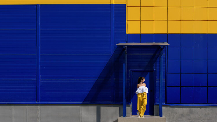 Kunstfotografier Yellow and blue