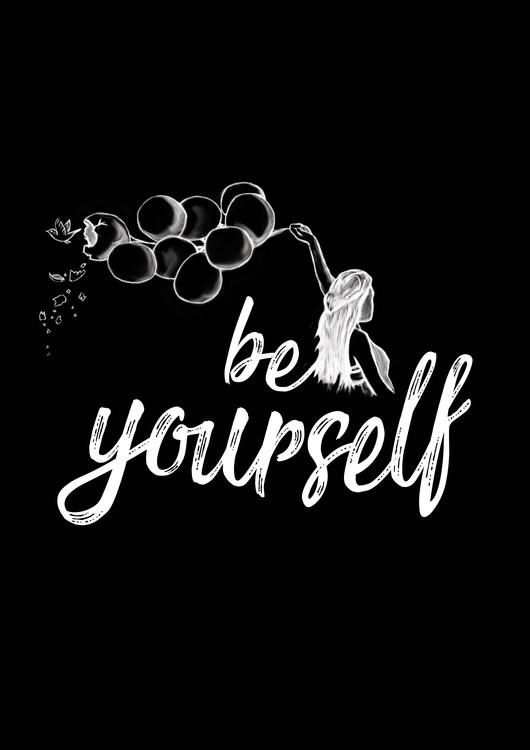 Kunstfotografier Be yourself - Black