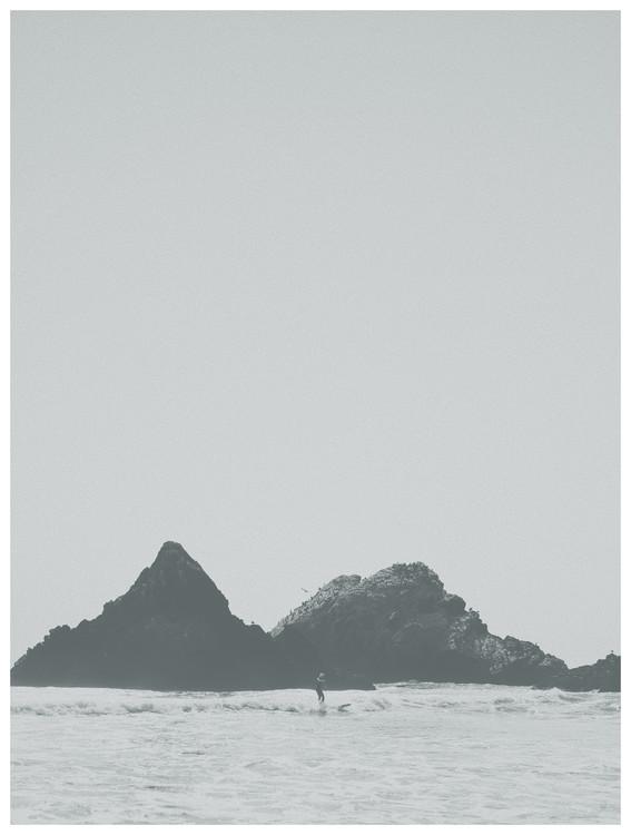 Kunstfotografier border black cliff beach
