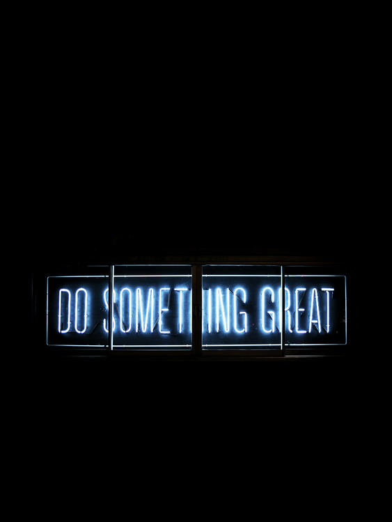 Kunstfotografier do something great neon