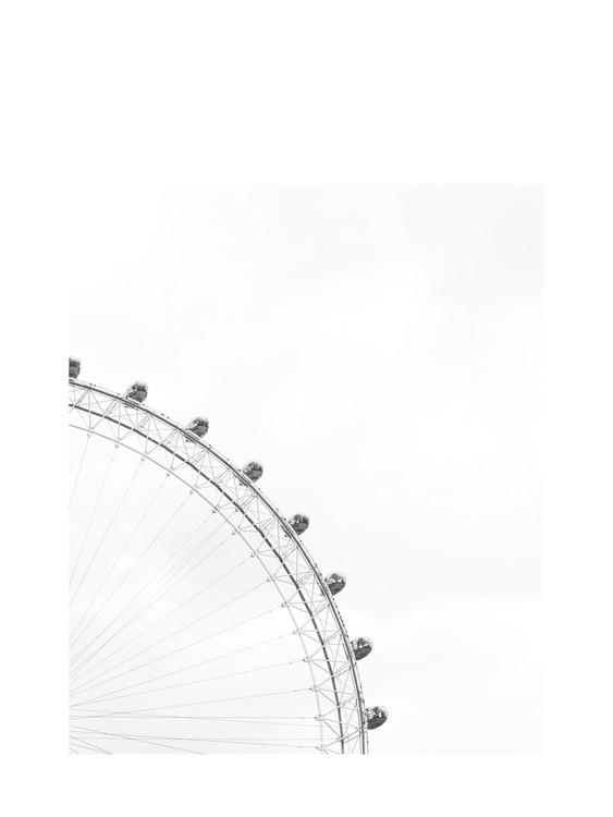 Kunstfotografier ferriswheelblackandwhite