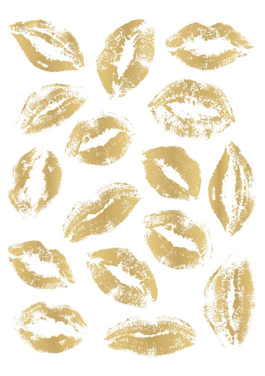 Kunstfotografier Golden Kisses