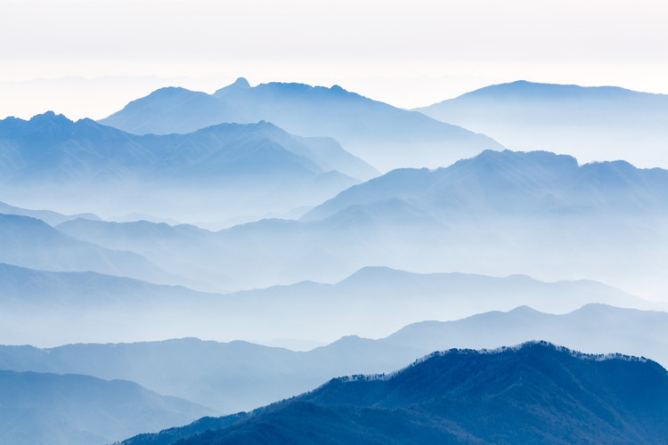 Kunstfotografier Misty Mountains