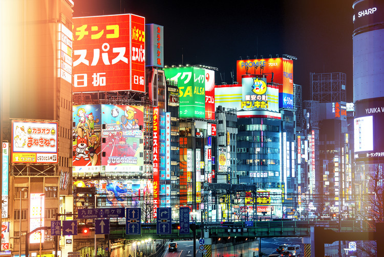 Kunstfotografier Night in Shinjuku
