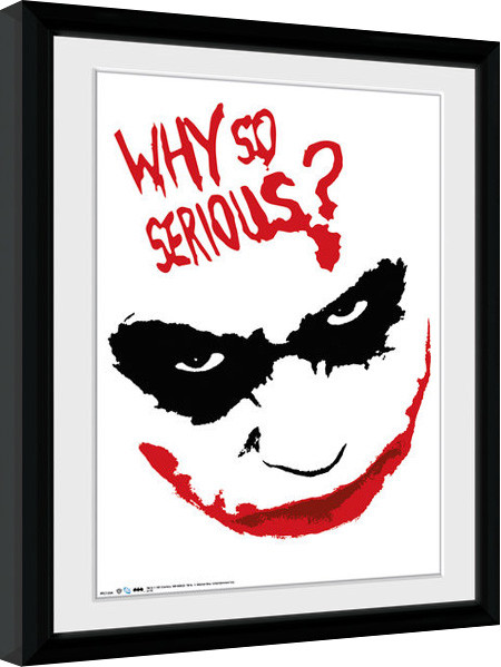 Batman The Dark Knight - Smile gerahmte Poster