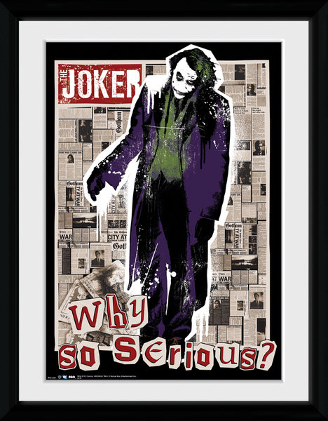 Batman The Dark Knight - Why So Serious kunststoffrahmen