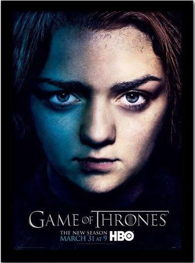 GAME OF THRONES 3 - arya kunststoffrahmen