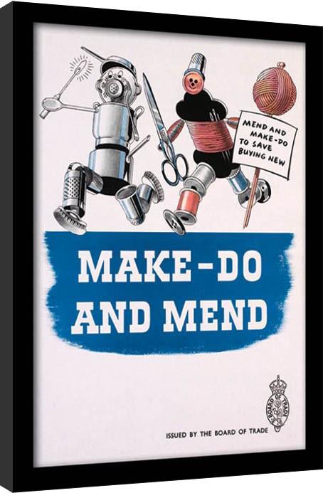 IWM - Make Do & Mend gerahmte Poster