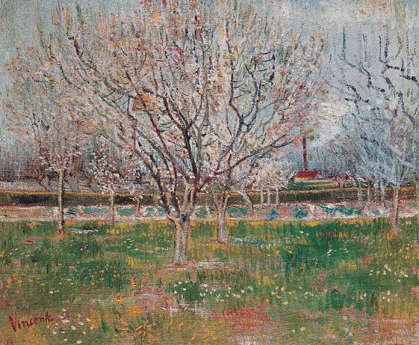 Plum Trees: Orchard in Blossom, 1888 Kunsttrykk
