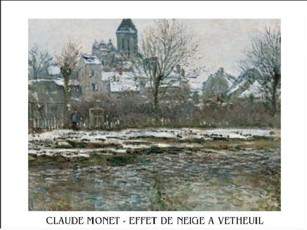 The Church at Vetheuil under Snow, 1878 Kunsttrykk