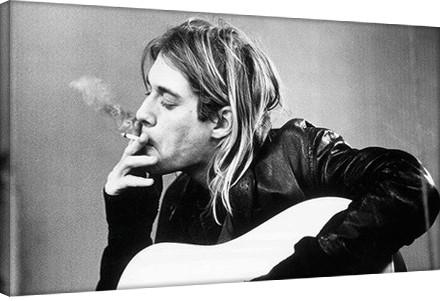 Leinwand Poster Kurt Cobain - smoking