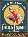 LADIES NIGHT Metalen Wandplaat