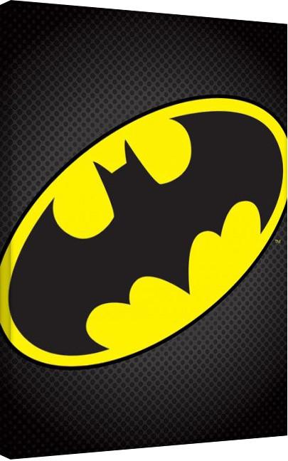 Batman - Logo Billede på lærred