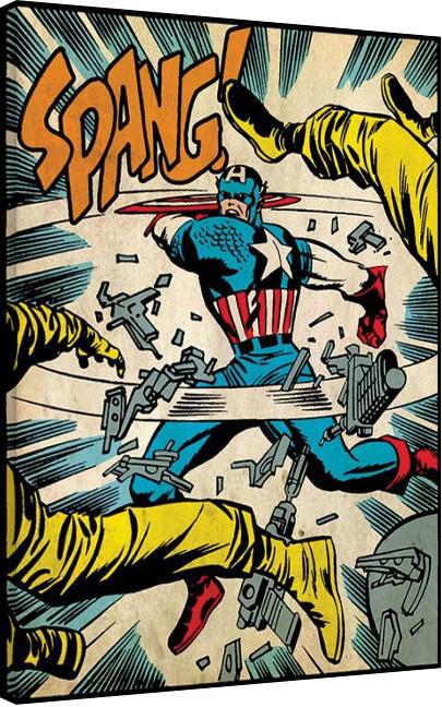 Captain America - Spang Billede på lærred