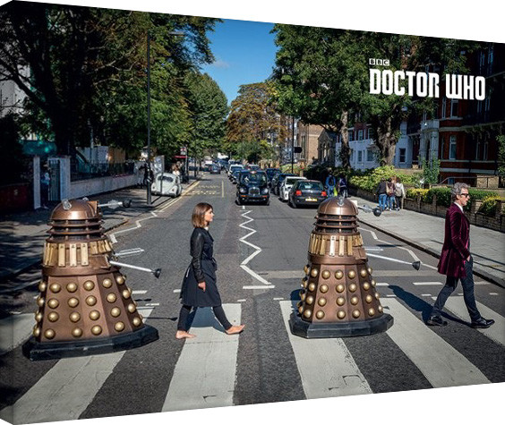 Doctor Who - Abbey Road Billede på lærred