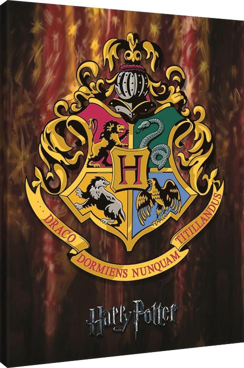 Harry Potter - Hogwarts Crest Billede på lærred