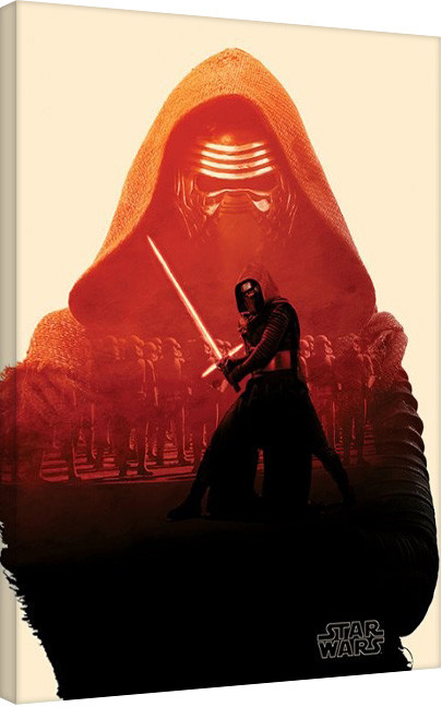 Star Wars Episode VII: The Force Awakens - Kylo Ren Tri Billede på lærred