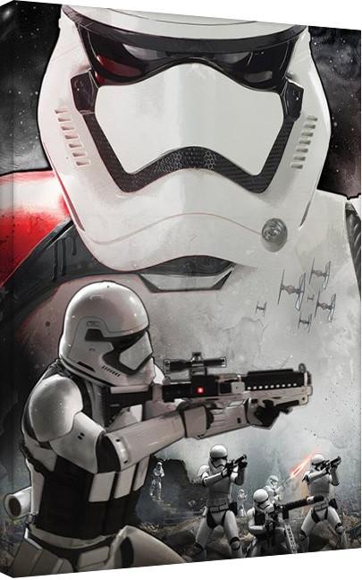 Star Wars Episode VII: The Force Awakens - Stormtrooper Art Billede på lærred