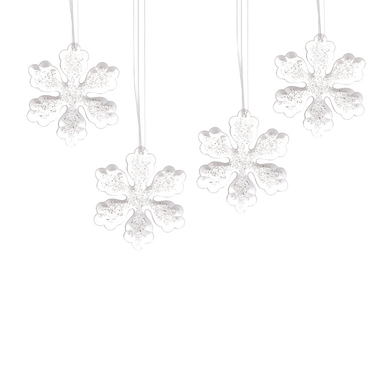 Christmas Snowflake Decoration, 10,5 cm, set of 4 pcs Lakberendezés