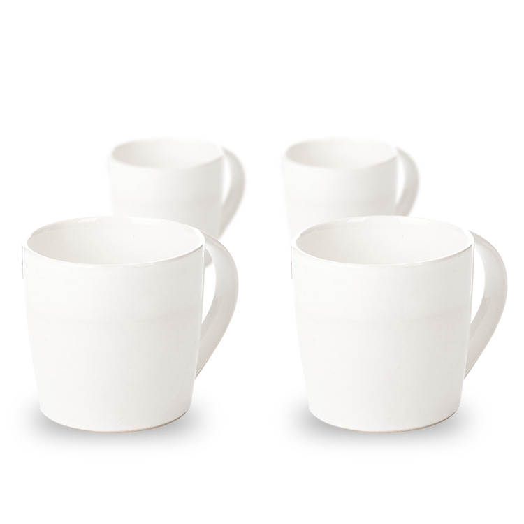 Mug Everyday, Matte White 300 ml, set of 4 pcs Lakberendezés