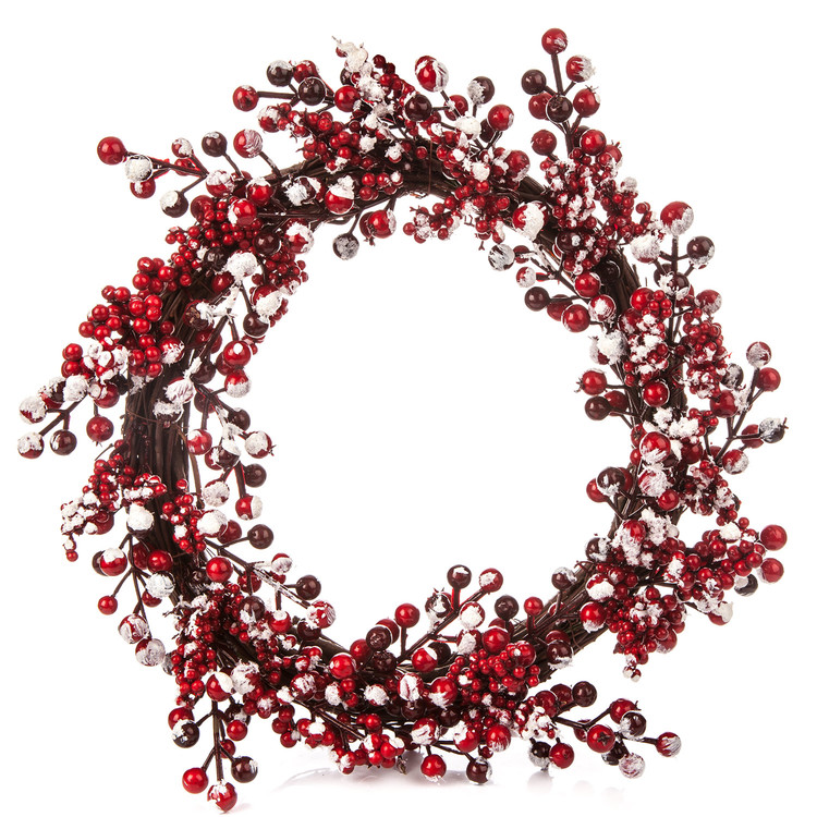 Wreath Berries Red-White, 45 cm Lakberendezés