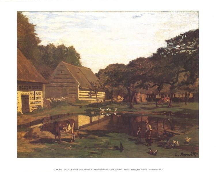 Reproducción de arte  A Farmyard In Normandy