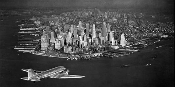 Reproducción de arte  Airplane view of parts of urban sites