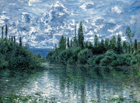 Reproducción de arte  Arm of the Seine near Vetheuil