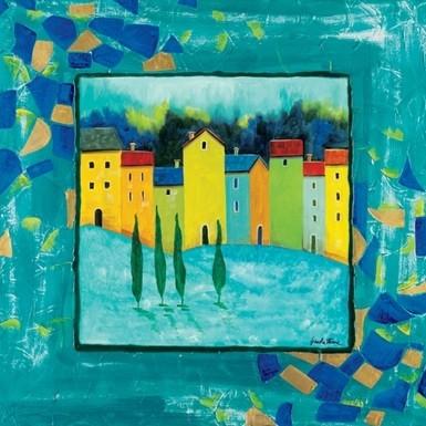 Reproducción de arte  Blue Magenta