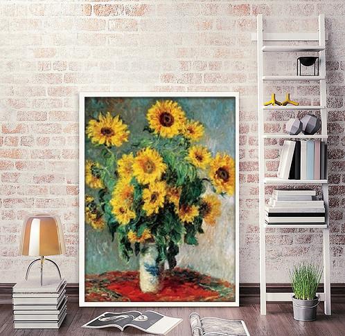 Reproducción de arte  Bouquet of Sunflowers, 1880-81