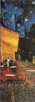 Reproducción de arte Café Terrace at Night - The Cafe Terrace on the Place du Forum, 1888 (part.)