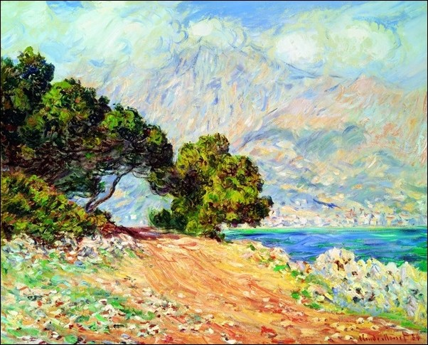 Reproducción de arte  Claude Monet - Cap Martin , Near Menton