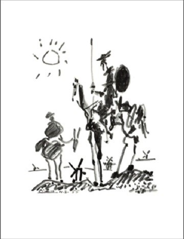 Reproducción de arte Don Quichotte
