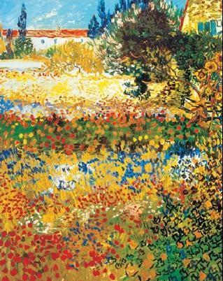 Reproducción de arte  Flowering garden, 1898