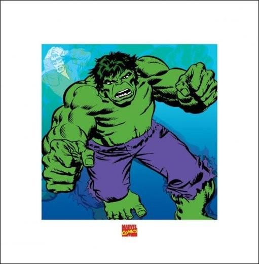 Reproducción de arte  Hulk - Marvel Comics
