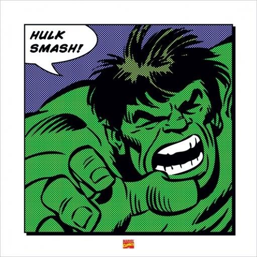 Reproducción de arte  Hulk - Smash